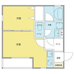 gi&333;ne Honmachi[1階]の間取り