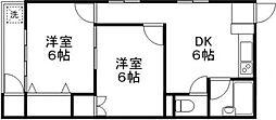 第一雅マンション[305号室]の間取り