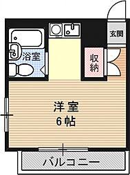 ブランドールハウス[401号室号室]の間取り