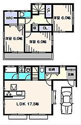 [一戸建] 東京都東久留米市前沢4丁目 の賃貸【東京都 / 東久留米市】の間取り