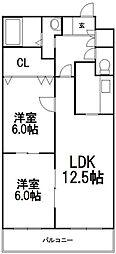 北海道札幌市西区八軒八条東4丁目の賃貸マンションの間取り