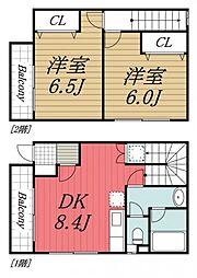[テラスハウス] 千葉県千葉市中央区蘇我4丁目 の賃貸【千葉県 / 千葉市中央区】の間取り