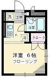 東京都世田谷区経堂5丁目の賃貸アパートの間取り