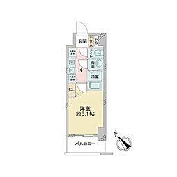 JR中央本線 鶴舞駅 徒歩2分の賃貸マンション 6階1Kの間取り