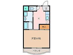 三重県松阪市外五曲町の賃貸マンションの間取り