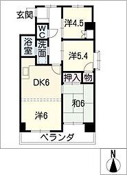 黒川ターミナルハイツ[9階]の間取り