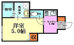 soLis翠町[1階]の間取り