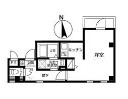 東京メトロ銀座線 浅草駅 徒歩16分の賃貸マンション 5階1Kの間取り