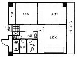 第1マンション北(グランドハイツ北)[4階]の間取り