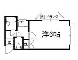 ブライトハウス[205号室]の間取り