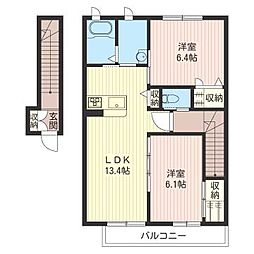 メゾン・ド・プレジール[2階]の間取り