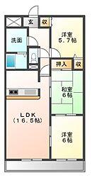 悠和苑[14階]の間取り