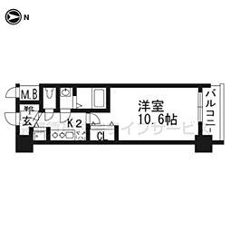 アール京都グレイス203[2階]の間取り
