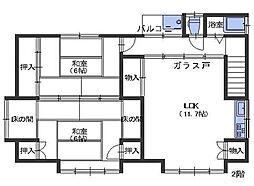 広島県呉市阿賀北7丁目の賃貸アパートの間取り
