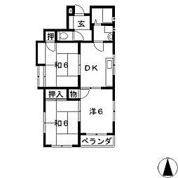 材木町スクエア[1階]の間取り