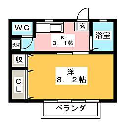 STUDIO DEMAIN[1階]の間取り