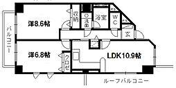佐鳴湖パークタウンサウス[11階]の間取り