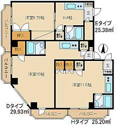 早稲田マンション[506号室]の間取り