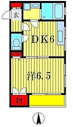 フラワー榎本II[4階]の間取り
