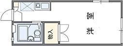 レオパレスWAVE[1階]の間取り