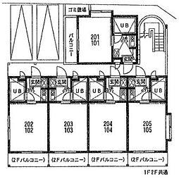 メゾンド・エポール弥栄[103号室]の間取り