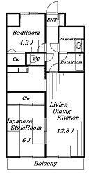 ビューシティINAGE[5階]の間取り