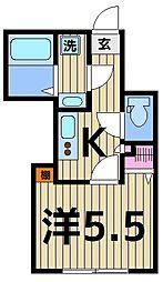 東京都足立区西綾瀬2丁目の賃貸アパートの間取り