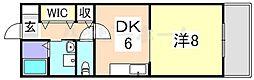 プリメール龍野[2階]の間取り