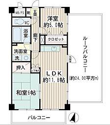 ピーアンドエーマンション[4階]の間取り