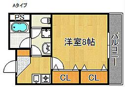 ジェンティールTATEISIII[2階]の間取り