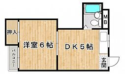 宝マンション[2階]の間取り