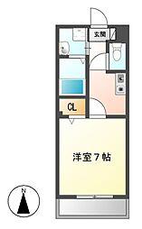 メリーコート[2階]の間取り