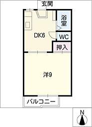 OBAZUKA5 YOU YOUB棟[1階]の間取り