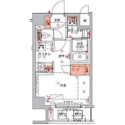 東京メトロ半蔵門線 水天宮前駅 徒歩5分の賃貸マンション 5階ワンルームの間取り
