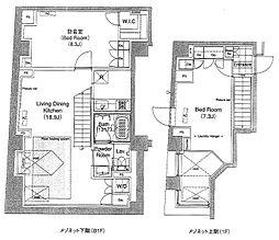 グローブプレイス六本木永坂[1階]の間取り
