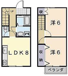 [テラスハウス] 三重県松阪市嬉野中川町 の賃貸【/】の間取り