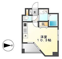 GRANDUKE東別院crea(クレア)[3階]の間取り