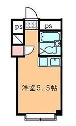 コーポ調布[3階]の間取り