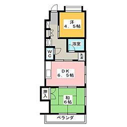 ラフォーレ鳴海[3階]の間取り