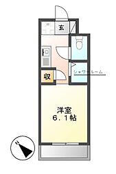 N.S.ZEAL東別院中駒ビル[13階]の間取り