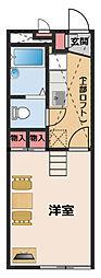 JR東海道・山陽本線 高槻駅 徒歩30分の賃貸アパート 2階1Kの間取り