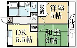 レジデンス銀閣寺[2階]の間取り