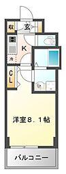 レジディア江坂II[7階]の間取り