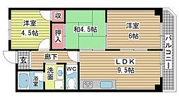 ファミーユ神田[202号室]の間取り