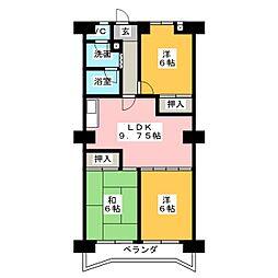 ロワールパーク[6階]の間取り