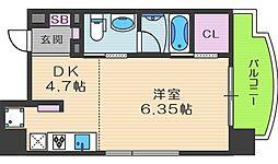 ROJI01[9階]の間取り
