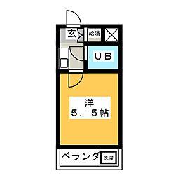 アイチハートマンション[5階]の間取り