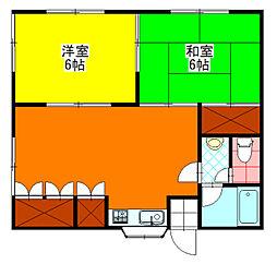 [一戸建] 宮崎県小林市大字真方 の賃貸【/】の間取り