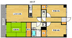 アドリーム北加賀屋パークピア[9階]の間取り
