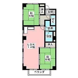 エクセル山田[3階]の間取り